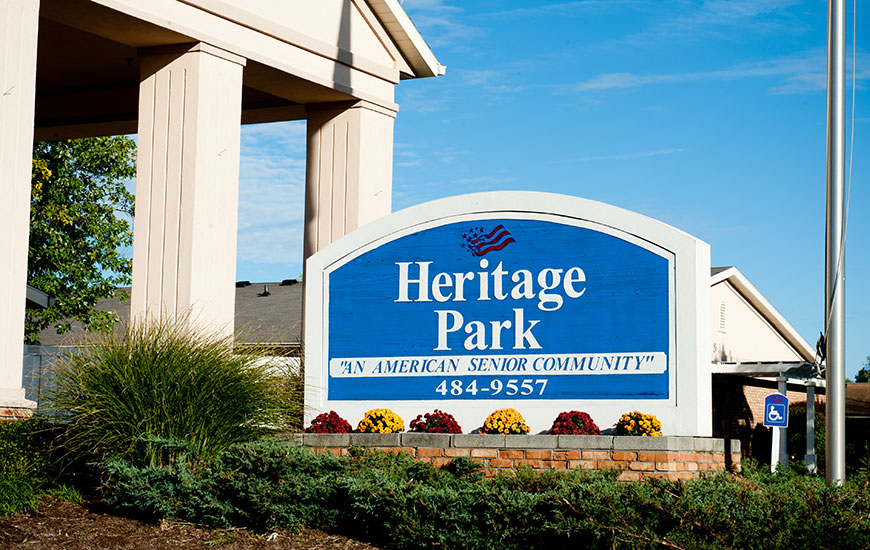 Heritage Park sign
