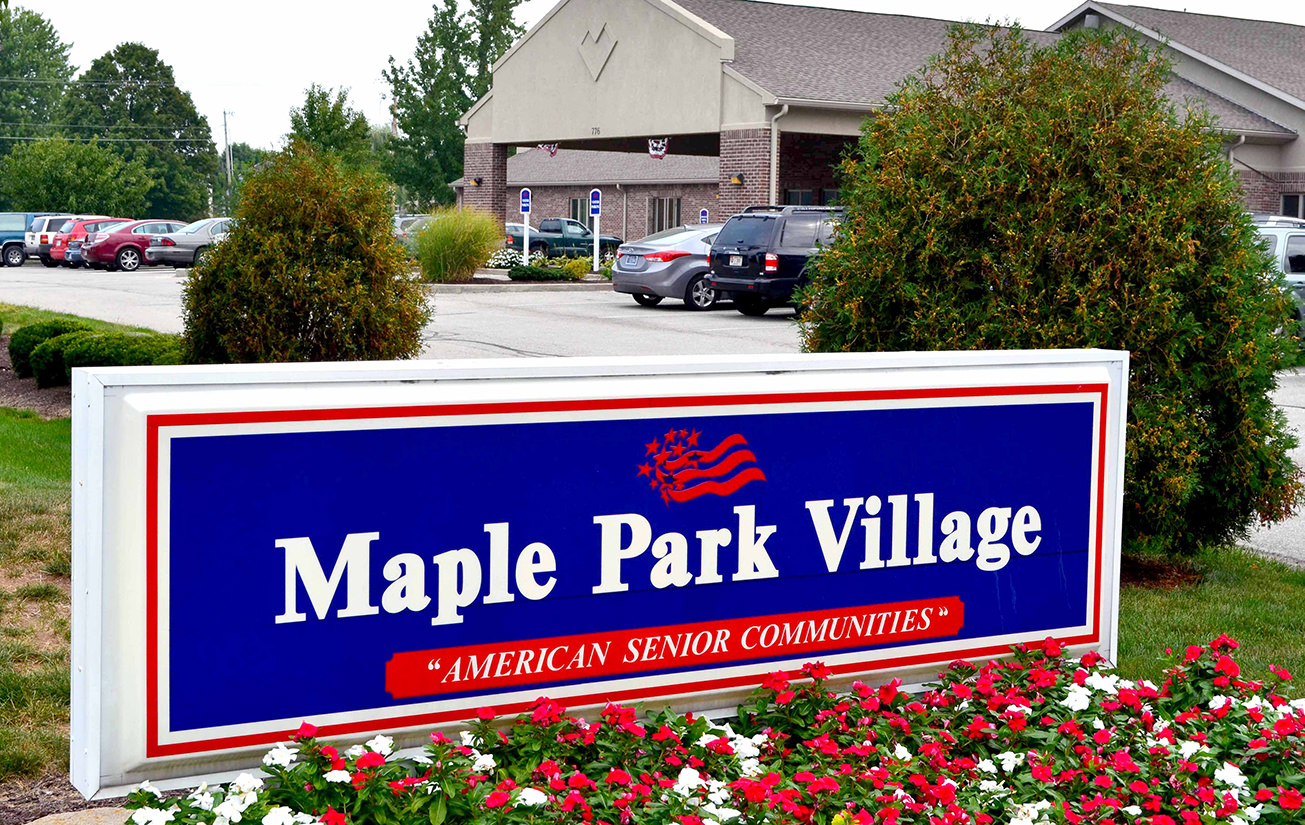 Maple Park Village sign