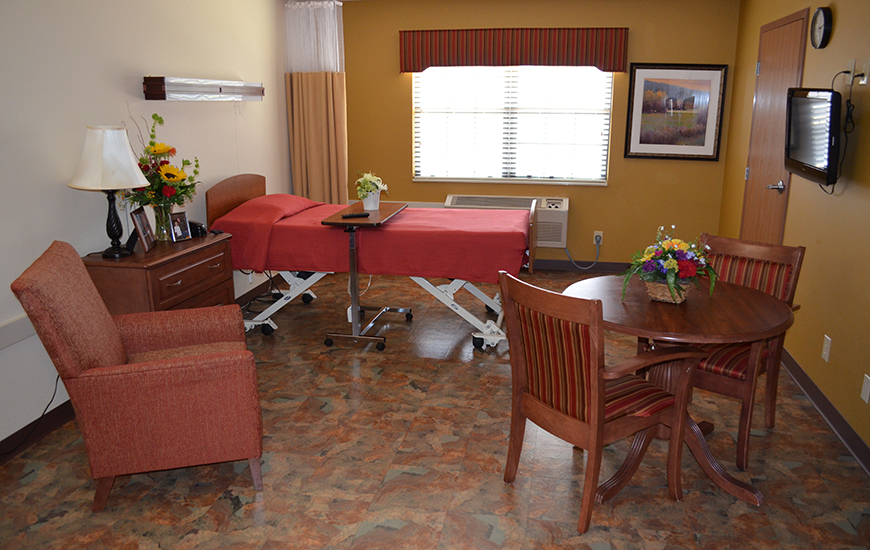 American Village healthcare single room
