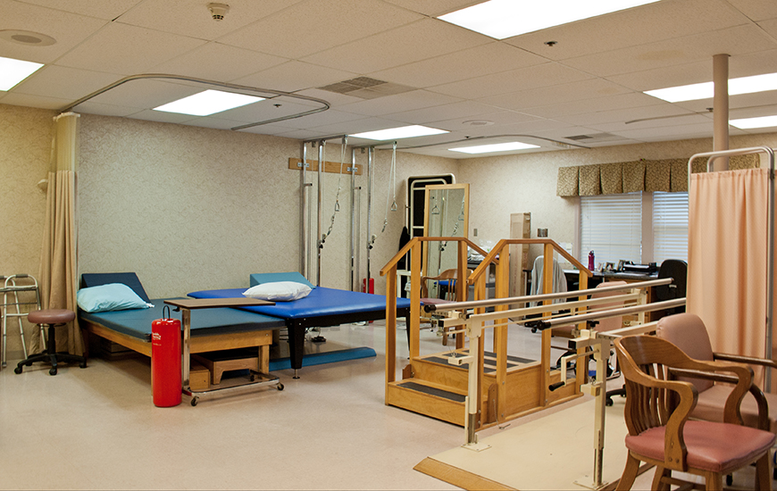 American Village healthcare therapy room