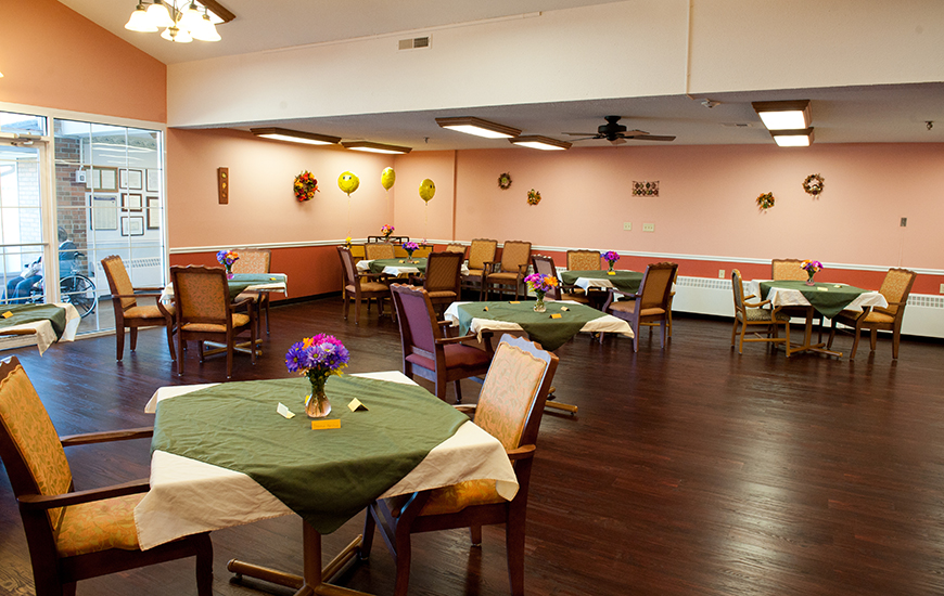 North Park Nursing Center dining room
