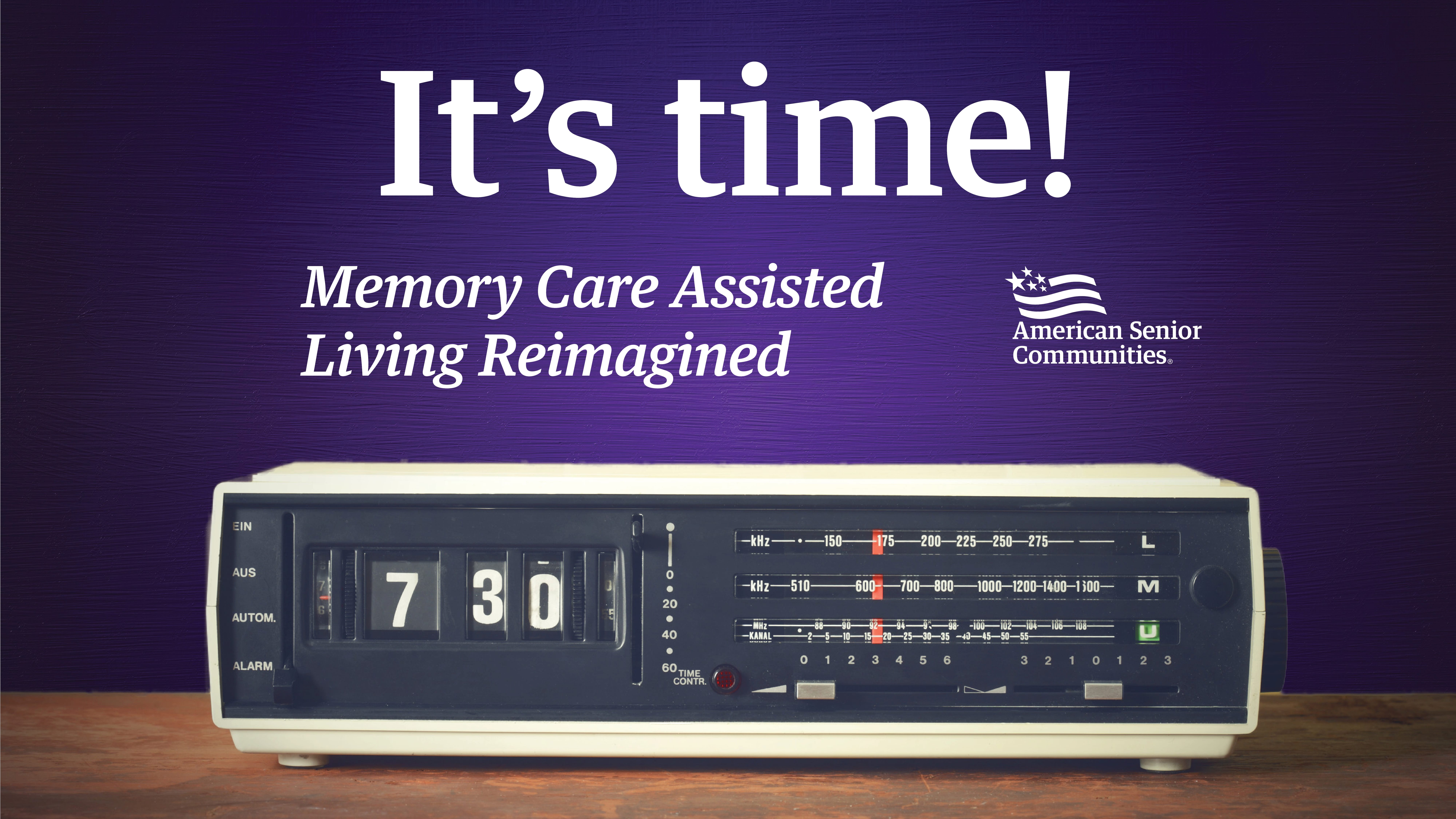 It's Time – Memory Care Assisted Living Reimagined